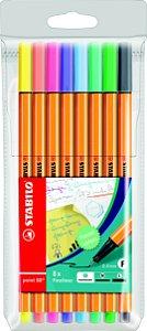 Estojo Caneta Stabilo Point 88 Patel com 08 cores