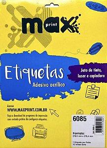 Etiqueta Maxprint Carta 6085 com 10 Folhas