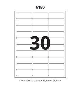 Etiqueta Maxprint Carta 6180 com 100 Folhas