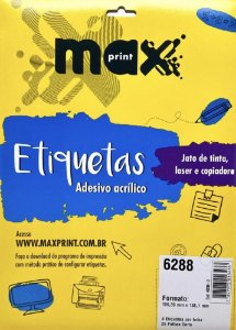 Etiqueta Maxprint Carta 6288 com 25 Folhas
