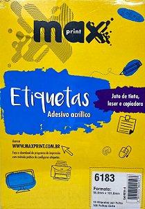 Etiqueta Maxprint Carta 6183 com 100 Folhas