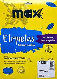 Etiqueta Maxprint A4251 com 25 Folhas