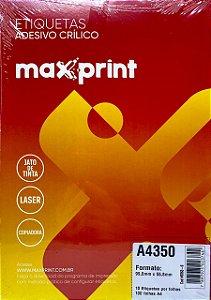 Etiqueta Maxprint A4350 com 100 Folhas