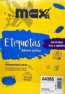 Etiqueta Maxprint A4365 com 100 Folhas