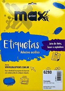 Etiqueta Maxprint Carta 6280 com 25 Folhas