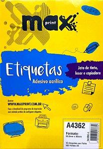 Etiqueta Maxprint A4362 com 100 Folhas