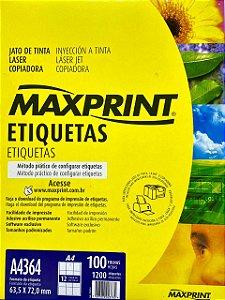 Etiqueta Maxprint A4364 com 100 Folhas