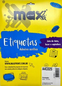 Etiqueta Maxprint A4CD25 com 25 Folhas