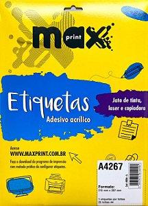 Etiqueta Maxprint A4267 com 25 Folhas
