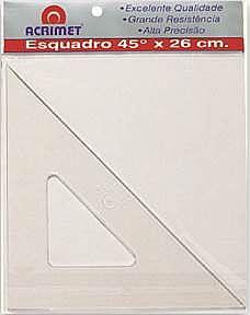 ESQUADRO SEM ESCALA DE 45º (26CM)