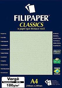 Papel Vergê A4 Turmalina 50 folhas 180g/m² - Filiperson