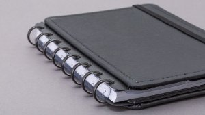 Discos e Elástico Preto Metalico Caderno Inteligente