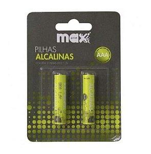 Pilha Alcalina AAA C/2 Unidades Maxprint