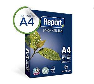 Papel A4 Report® Premium 75 g/m² Pacote 500 Folhas