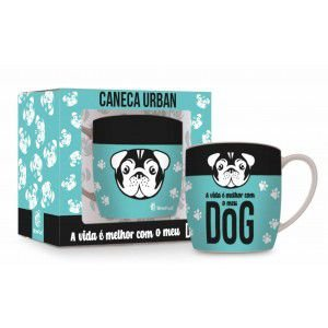 CANECA PORCELANA URBAN 360ML - DOG