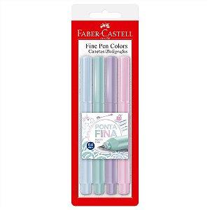 Caneta Fine Pen Tons Pastel C/4 - Faber-Castell