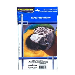 Papel Fotográfico Glossy Masterprint A4 180g 50 Folhas