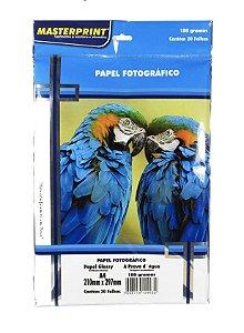 Papel Fotográfico Glossy Masterprint A4 180g 20 Folhas