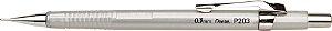 Lapiseira Pentel 0.3 Sharp P203 Prata