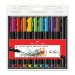 Hidrográfica Supersoft Brush C/10 Cores - Faber-Castell