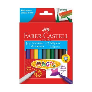 Hidrográfica Magic 10 Cores + 2 - Faber-Castell