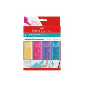 Marca Texto Pastel 46 C/4 - Faber-Castell