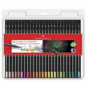 Lápis de Cor 50 cores SuperSoft - Faber-Castell