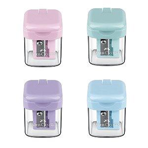 Apontador com Depósito Minibox Pastel - Faber-Castell
