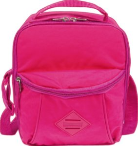 Lancheira Pocket Sestini Lunch Crinkle Rosa
