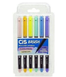 Marcador Artístico Brush Pastel C/6 CIS