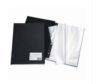 Pasta Catálogo Com 30 Plasticos Finos 1033 Preta Dac Unidade