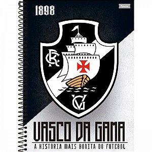 CADERNO ESPIRAL CAPA DURA UNIVERSITÁRIO 10 MATÉRIAS VASCO 200 FOLHAS