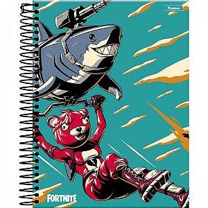 Caderno Universitário Fortnite Capa Dura 10 Matérias 200 Folhas