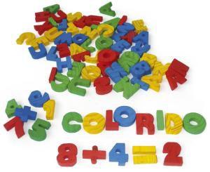 Alfanumeros coloridos em madeira 56 pecas - Jott Play