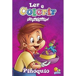 Ler e colorir Contos Clássicos: Pinóquio