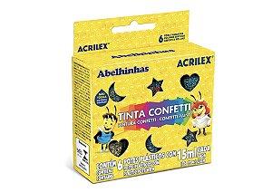 Tinta Confetti 15 ml c/6 Acrilex