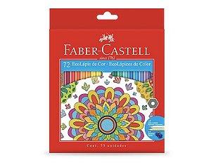 Lápis de Cor 72 Cores Ecolápis Faber Castell