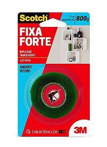 Fita Dupla Face 3M™ Scotch® Fixa Forte Transparente 19mm x 2m