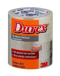 Fita Adesiva Durex™ Transparente 18mm x 50m 3M - Unidade