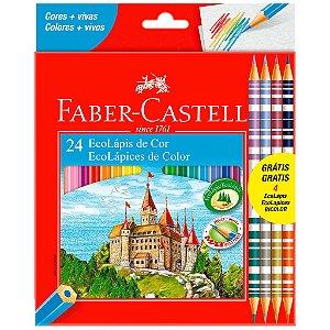 Lápis de Cor 20 Cores + 4 Bicolor Faber