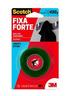 Fita Dupla Face 3M™ Scotch® Fixa Forte Transparente 12mm x 2m
