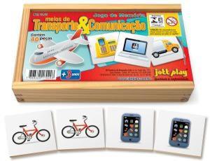 Jogo da Memoria Meios de Transportes e Comunicacao (40 pecas) - Jott Play