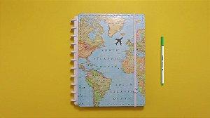 Caderno Inteligente Gocase Mapa Mundi