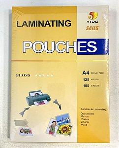 Polaseal Plástico para Encadernação A4 125 micras com 100