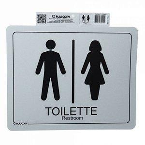 Placa de Sinalização Toilette Unissex