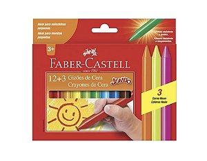 Gizão de Cera 15 Cores Faber Castell