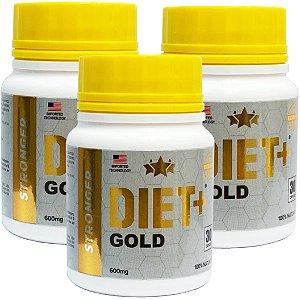 Diet + Gold 30 Cáps - Kit 3 unidades
