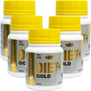 Diet + Gold 30 Cáps - Kit 5 unidades