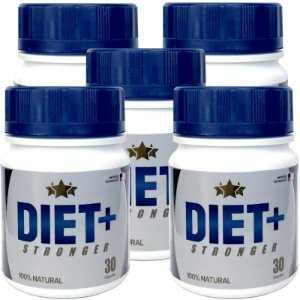 Diet + Stronger 30 cáps - kit 5 potes Diet + Stronger