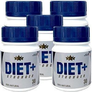 Diet + Stronger 30 cáps - kit 5 potes Diet + Stronger